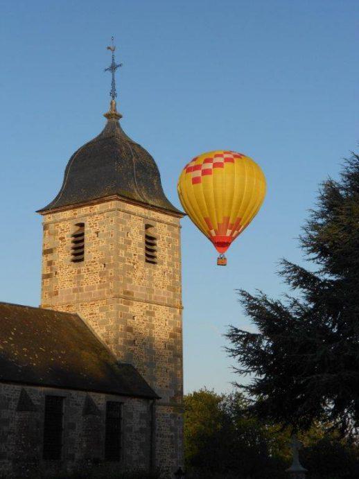 commune, mairie, annexe, saint charles de percy, eglise, montgolfiere